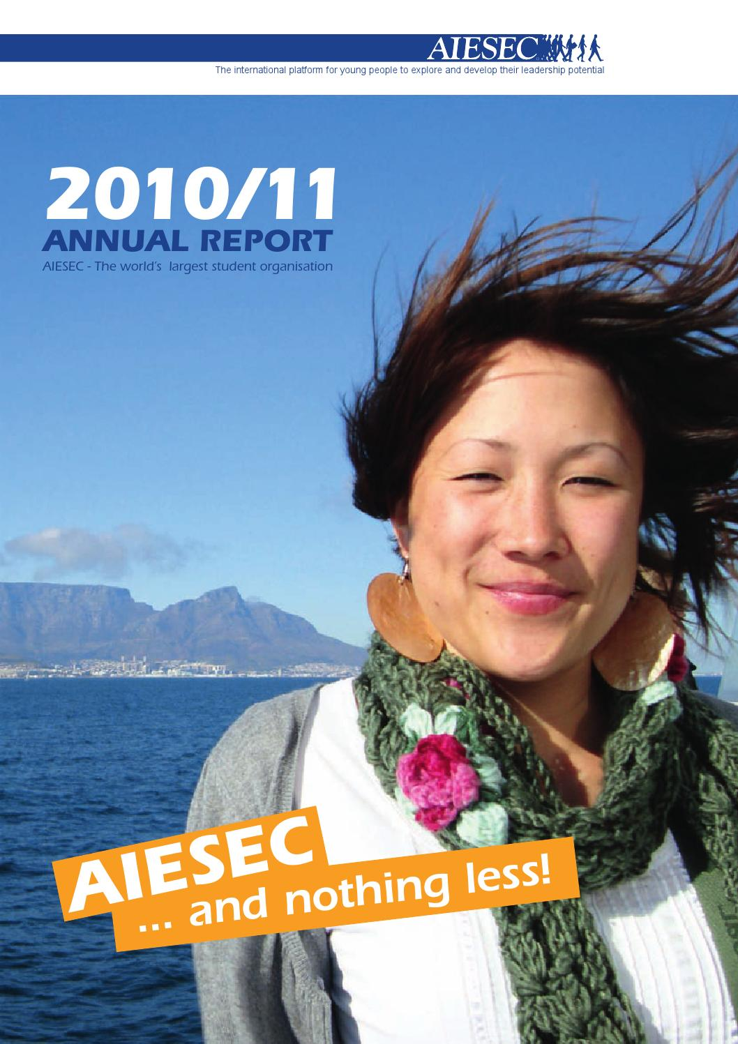 Aiesec Münster aiesec germany - annual report 2010.11lisa eschbaumer