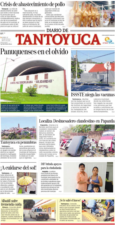 Diario de Tantoyuca 12 de Mayo de 2014 by Diario de Poza Rica SA de ...