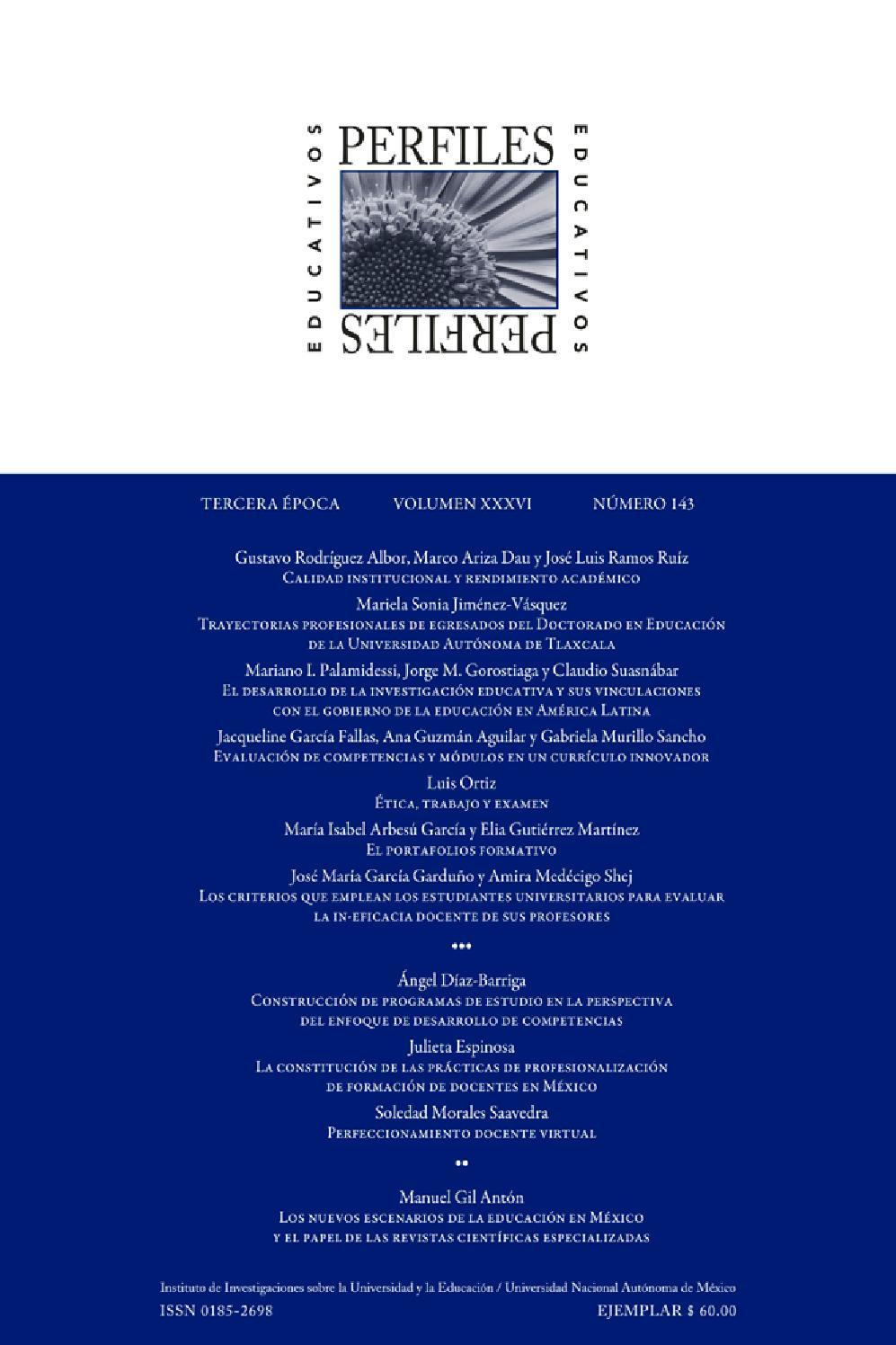 Revista Perfiles Educativos no 143 by UV Intercultural - issuu