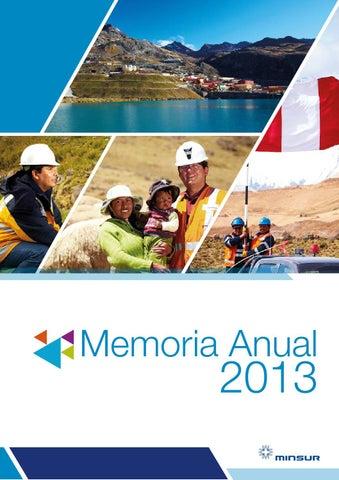 Memoria minsur 2013 f by mineria del peru issuu for Memoria anual