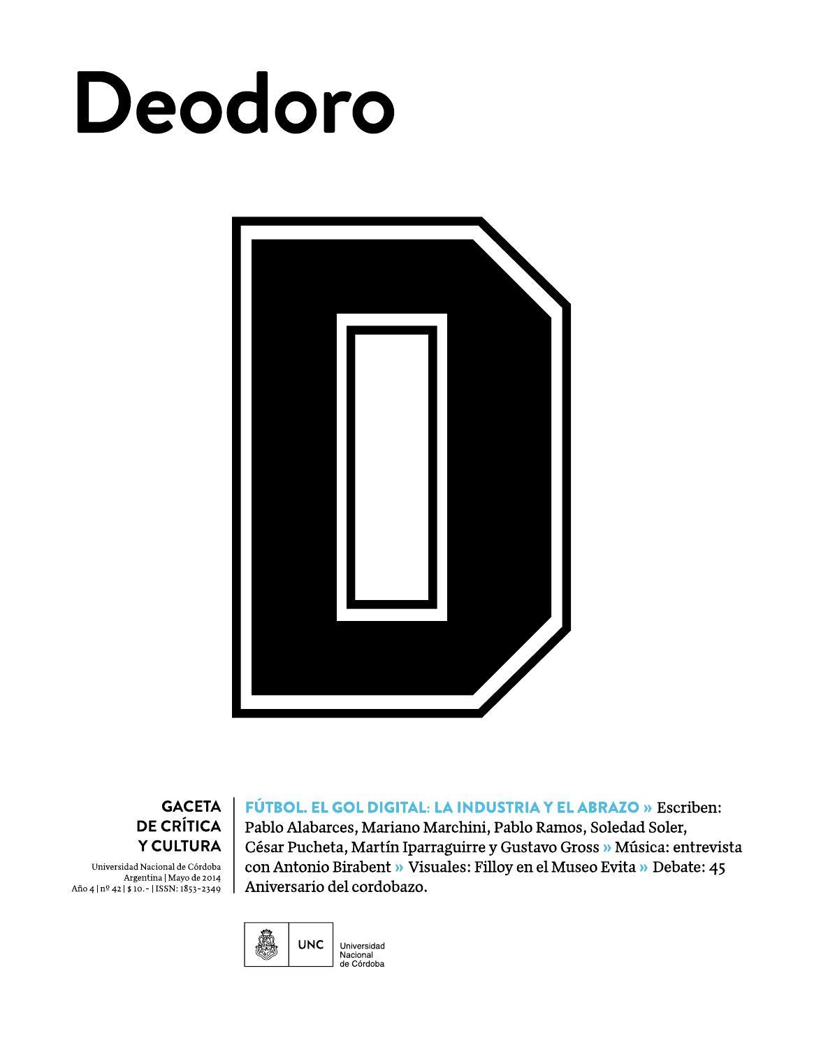 Deodoro, gaceta de crítica y cultura - Número 42 by Universidad ...