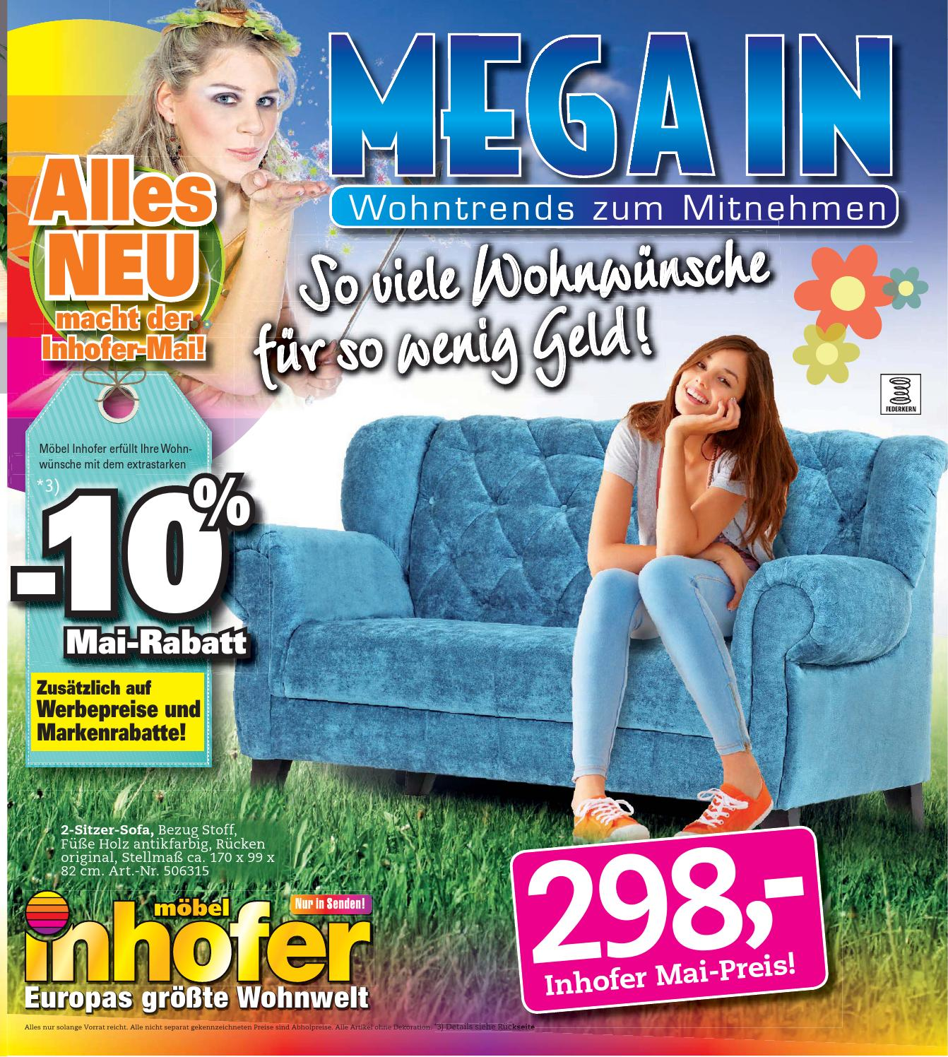 inhofer mega in prospekt kw 19 2014 by media service. Black Bedroom Furniture Sets. Home Design Ideas