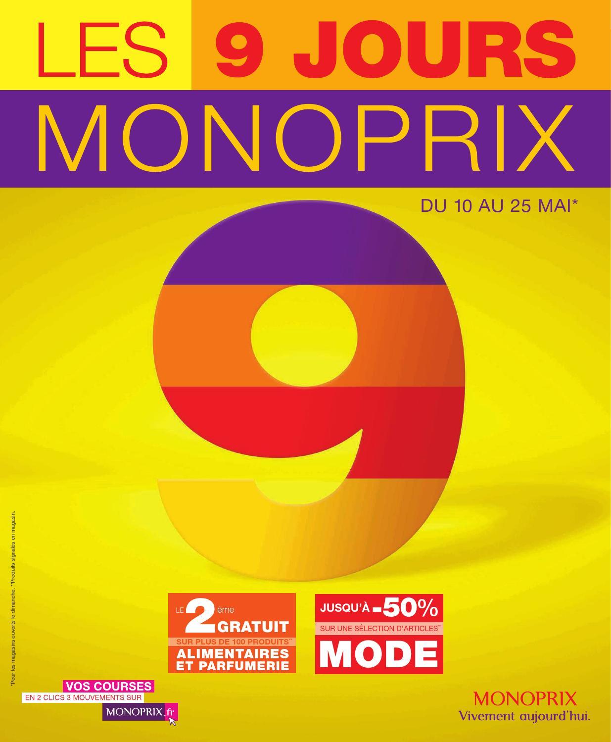 Catalogue monoprix du 10 au 25 mai by anti issuu - Monoprix 9 jours catalogue ...