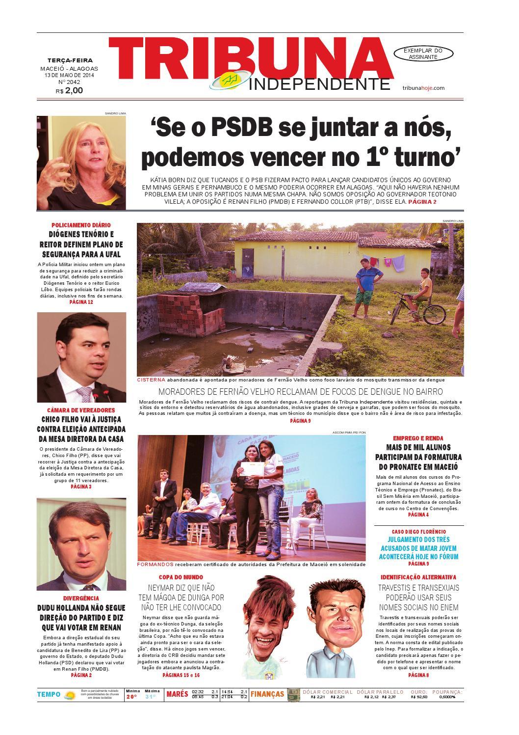 f9dd605617bf2 Edição número 2042 - 13 de maio de 2014 by Tribuna Hoje - issuu