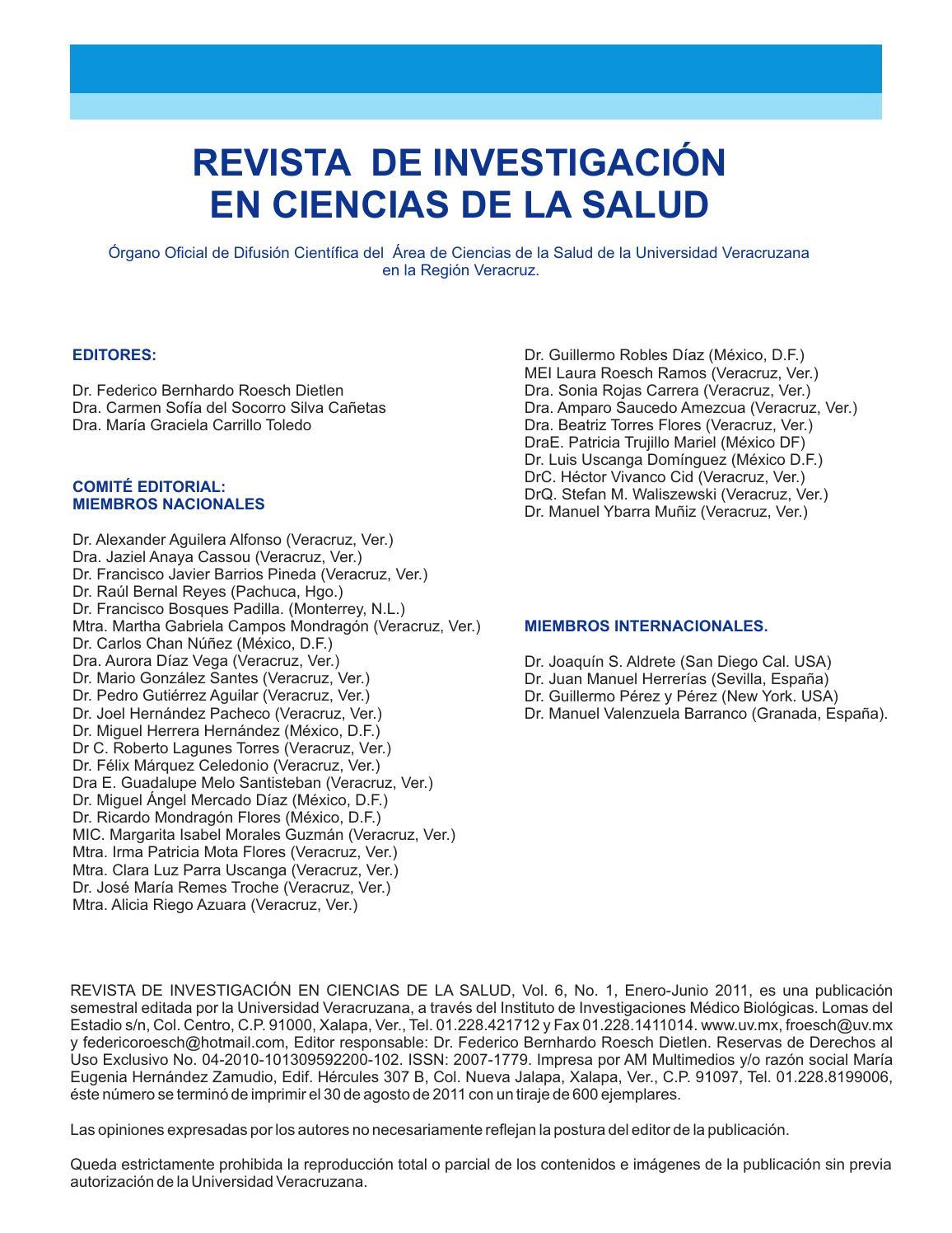 Vol 6 no 1 julio diciembre 2011 by Revista de Investigación en ...
