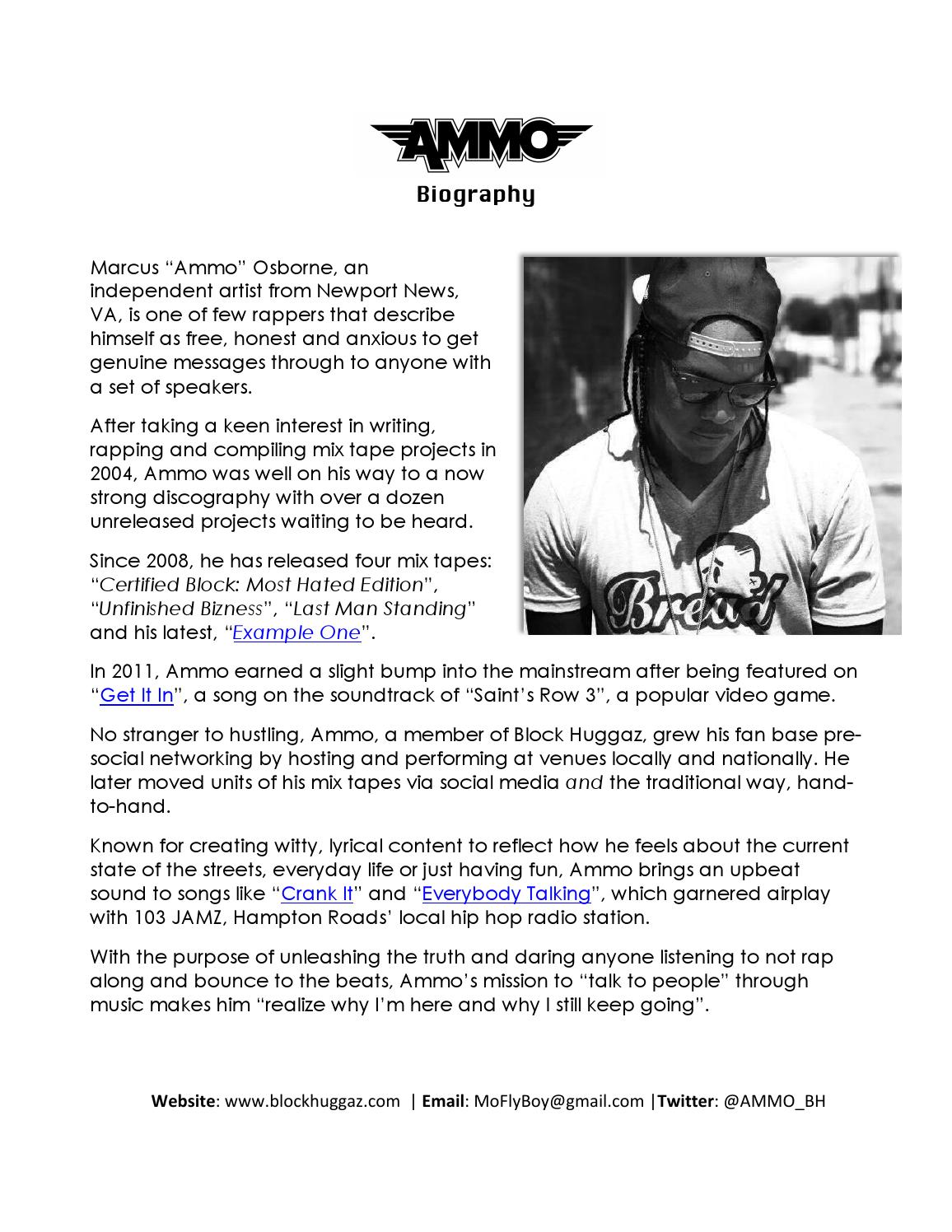 Rap artist bio template choice image template design ideas for Rap artist bio template