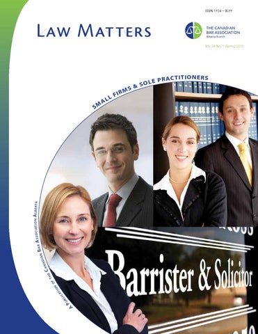 Law Matters Spring 2013 By Canadian Bar Association Alberta