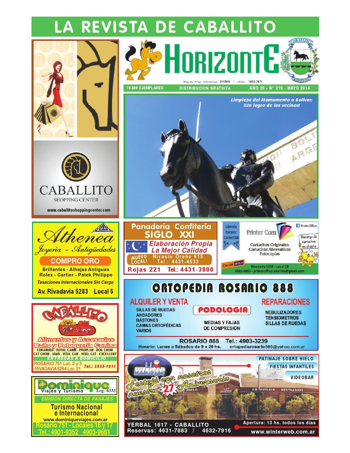 Horizonte mayo 2014 219 by Revista Horizonte Caballito - issuu