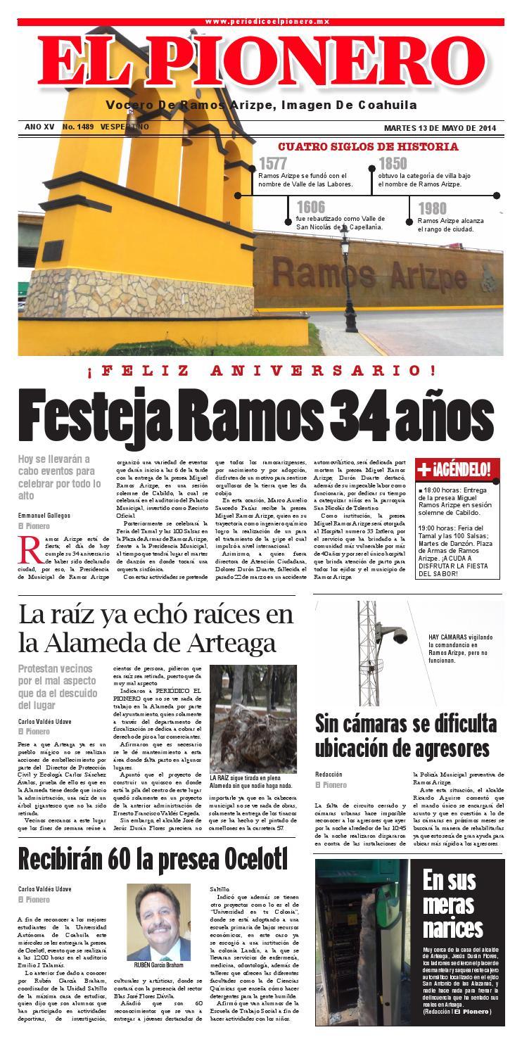 13 Mayo 2014 By Periódico El Pionero Issuu