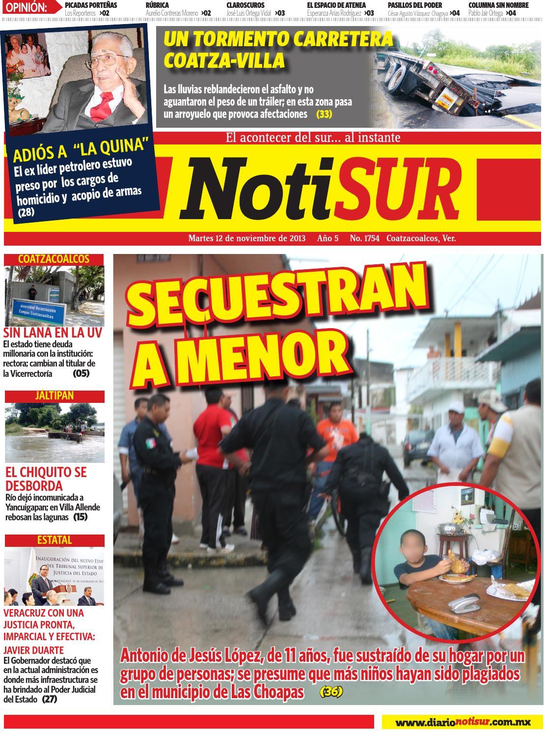 Notisur 12 De Noviembre 2013 By Diario Notisur Coatzacoalcos 2013  # Muebles Mayoral Tonala