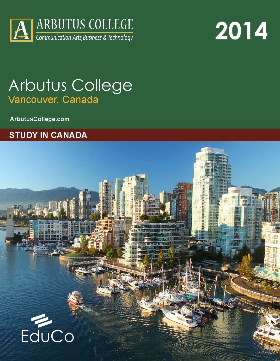 Arbutus College, Vancouver brochure 2014-2015 by Black Ink