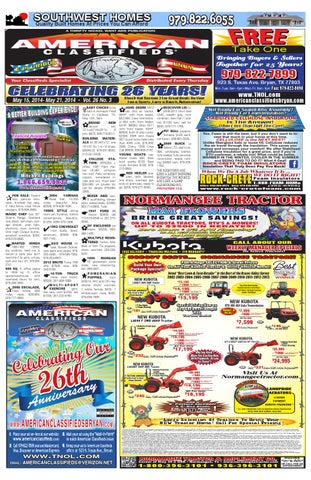 American Classifieds Thrifty Nickel Bryan/College Station 5-15