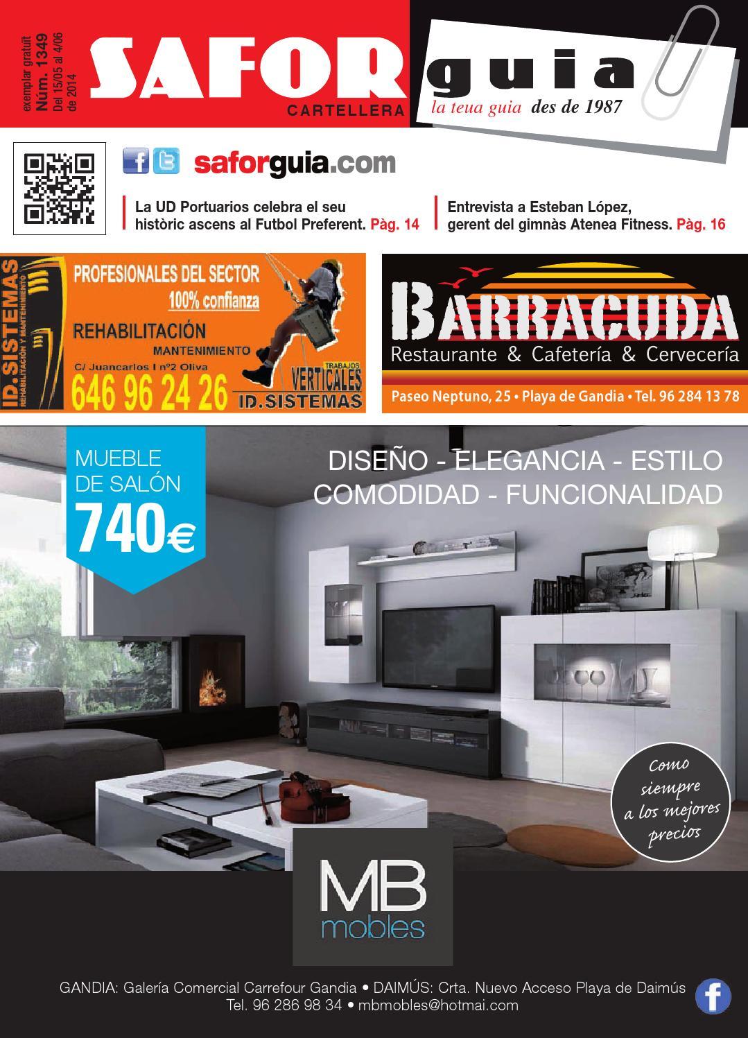 Publicaci N Del 15 De Mayo Al 5 De Junio De 2014 By Saforguia  # Muebles Peiro Quart De Poblet