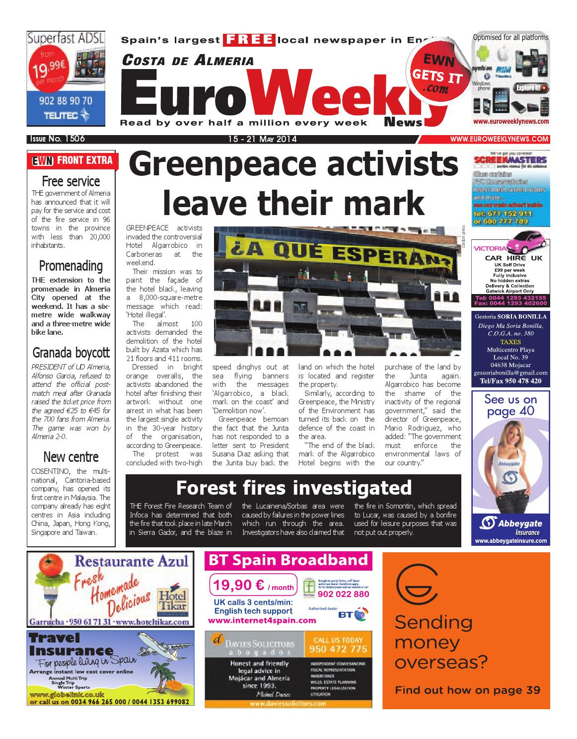 Euro Weekly News Costa De Almeria 15 21 May 2014 Issue 1506 By  # Muebles Rogelio Nerja