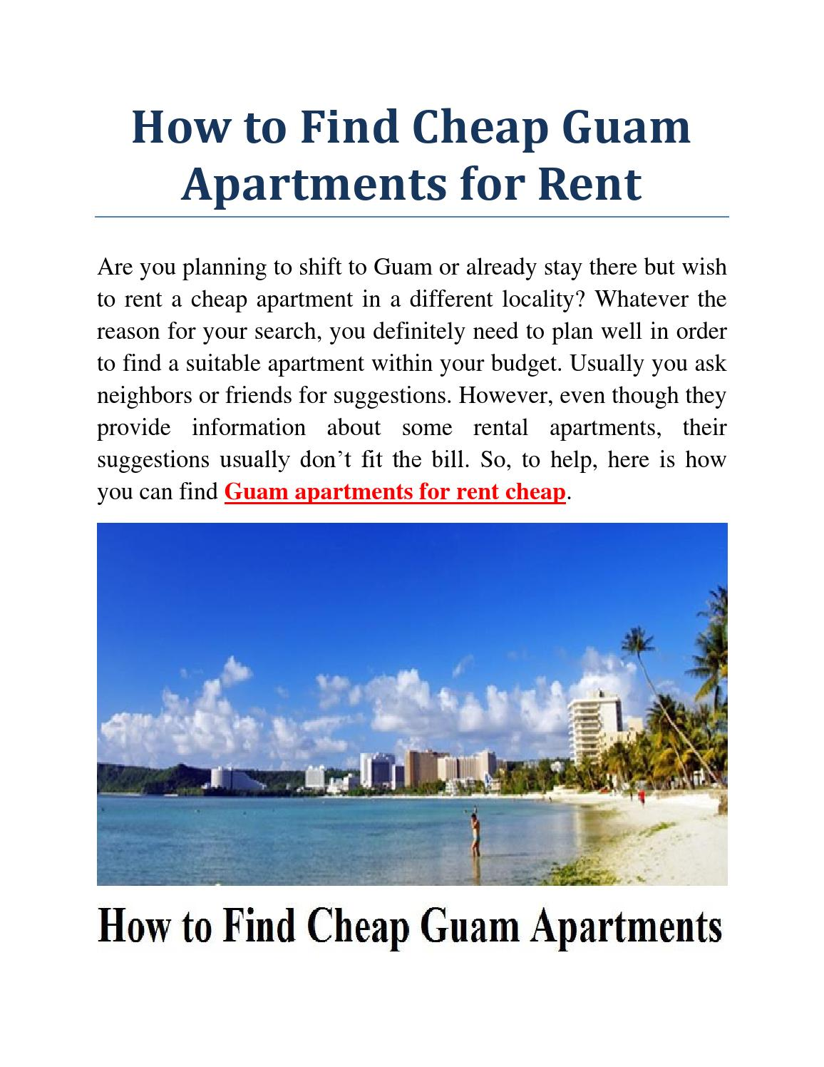 Guam Apartments For Rent Cheap By James Cannon Issuu