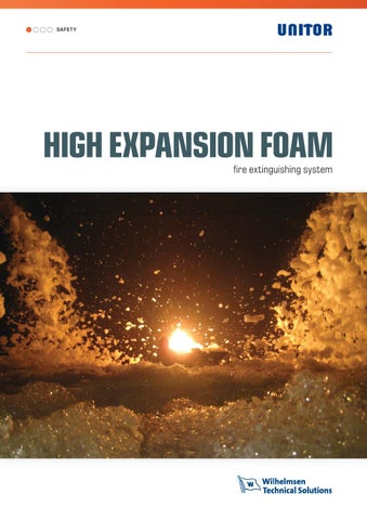 Unitor High expansion foam by Wilhelmsen Technical Solutions
