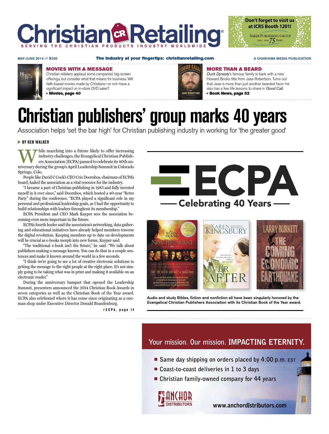 Christian retailing mayjune 2014 by charisma media issuu fandeluxe Gallery