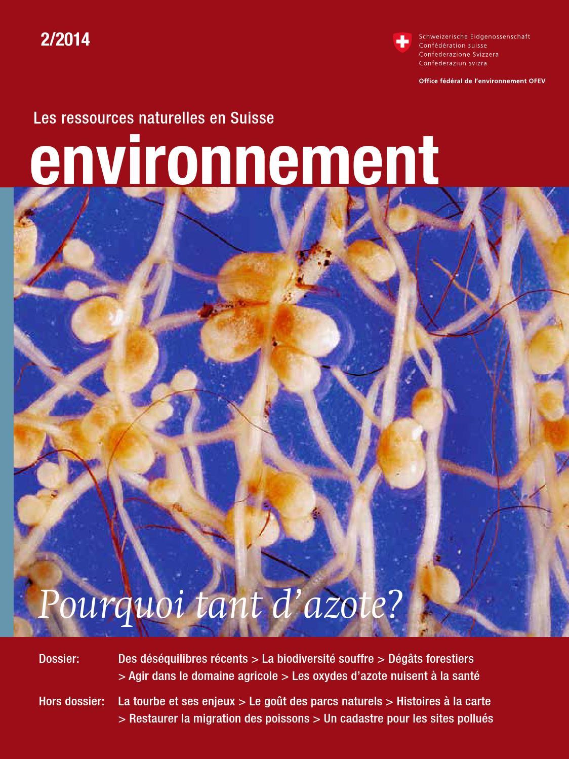 Magazine environnement 2 2014 pourquoi tant d azote - Disponibilite d office pour raison de sante ...