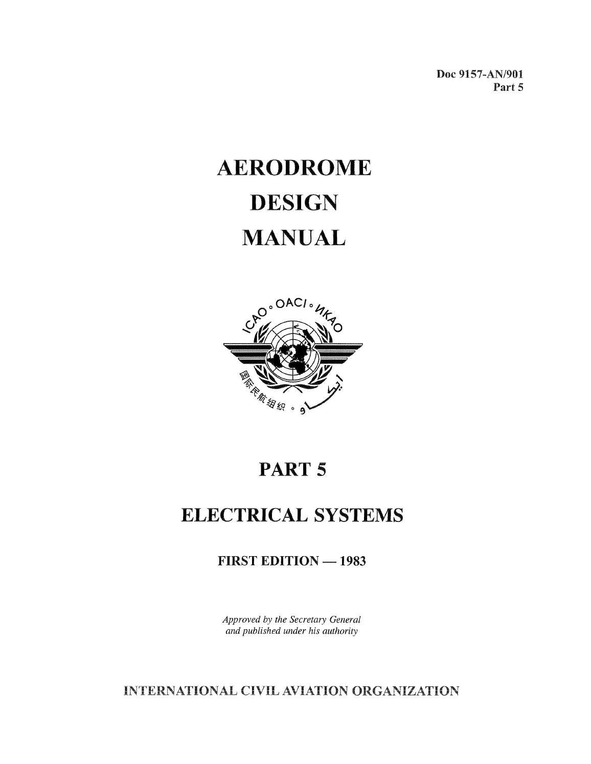 aerodrome design manuel part 5 electrical systems 1983 doc