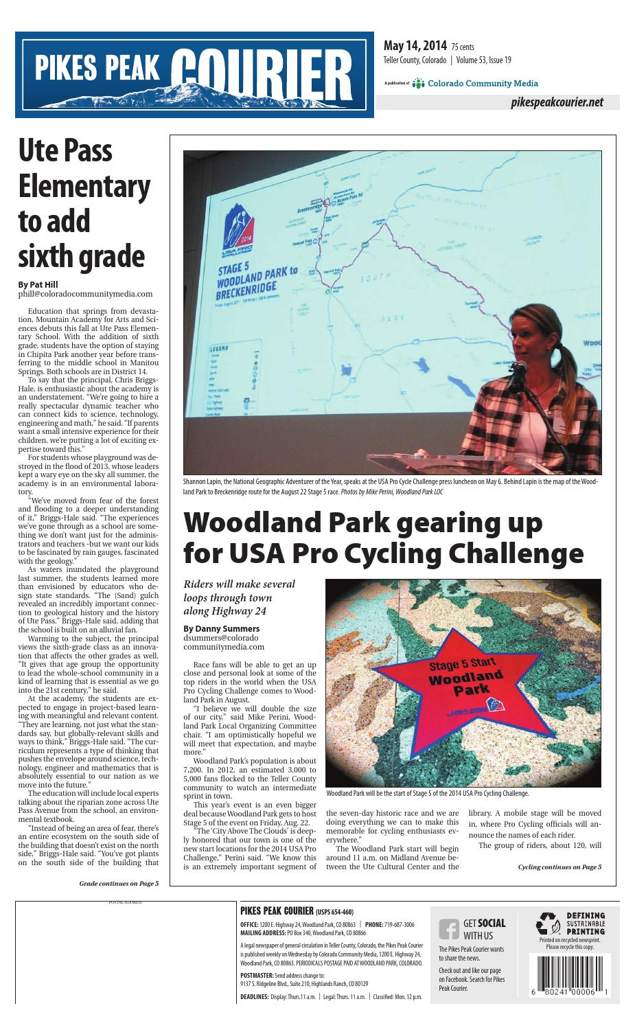 Pikes peak courier 0514 by Colorado Community Media - issuu
