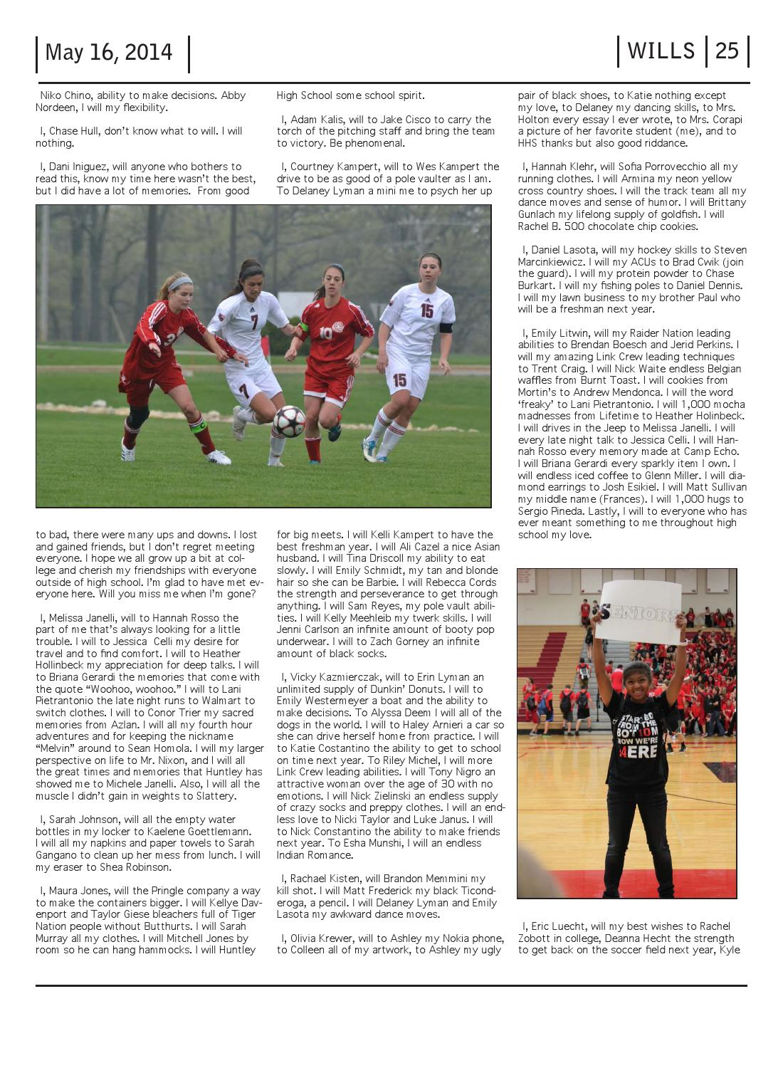 Class of 2014 Senior Issue by Huntley Voice - issuu