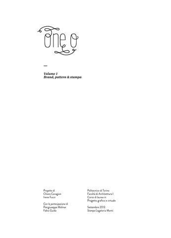 Politecnico di Torino - Tesi di laurea  One O vol I by One O - issuu bb4741ce79eb