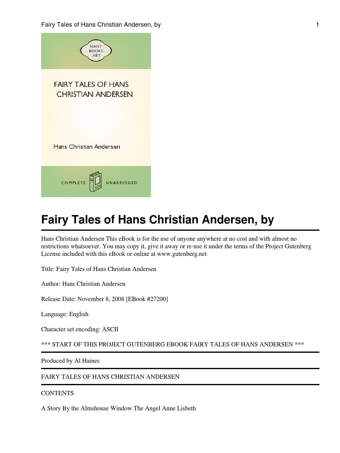 Fairy tales of hans christian andersen by yogh issuu fandeluxe Gallery
