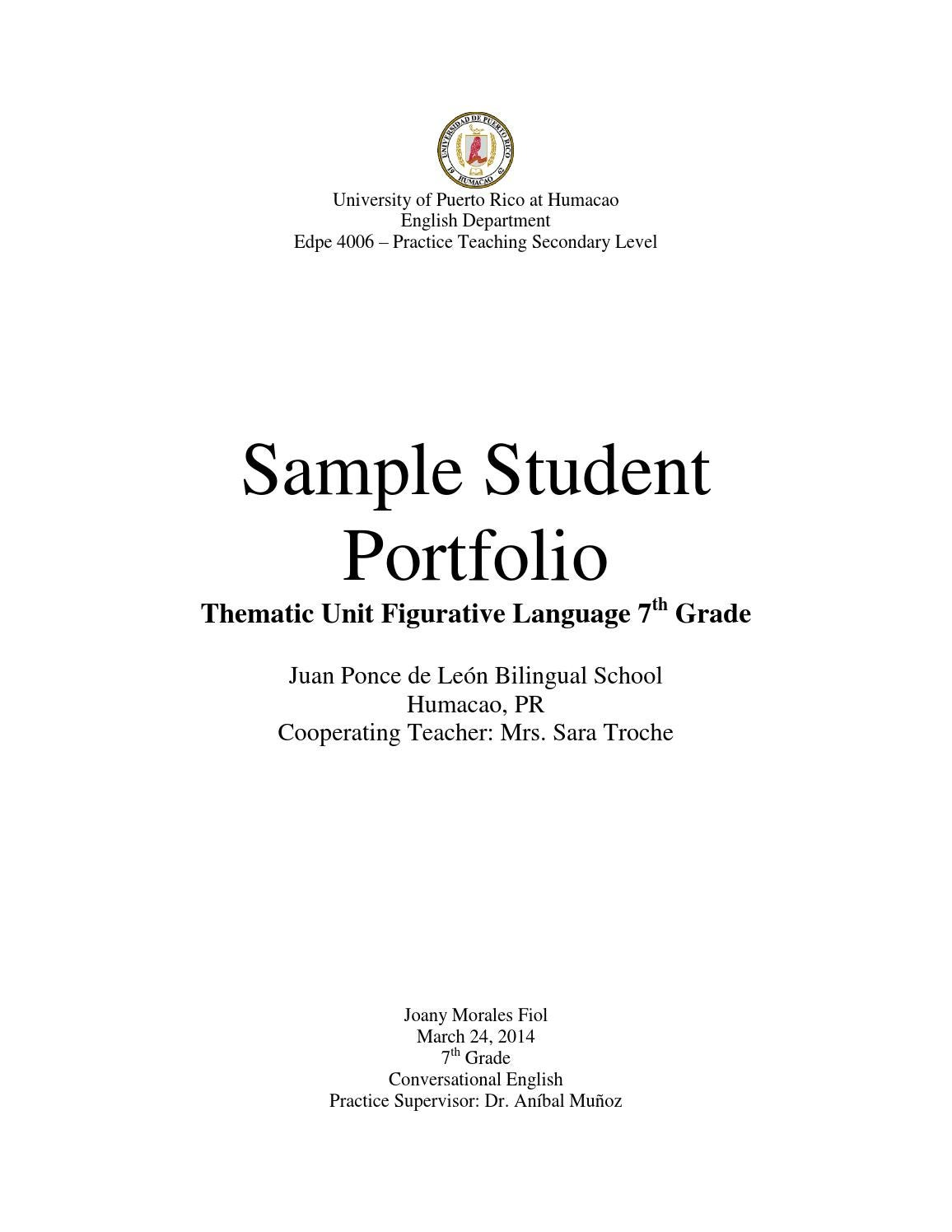 Sample student portfolio by Joany Morales - issuu