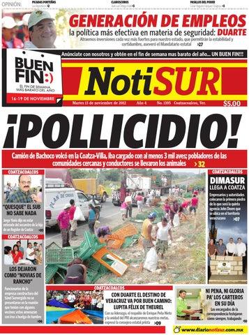 3fb4a83d5b3af NotiSUR 13 de Noviembre 2012 by Diario NotiSUR Coatzacoalcos 2012 ...