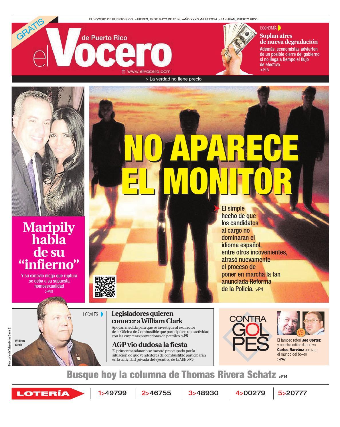 Edición 15 de Mayo 2014 by El Vocero de Puerto Rico - issuu 1b368e3ba1b7d