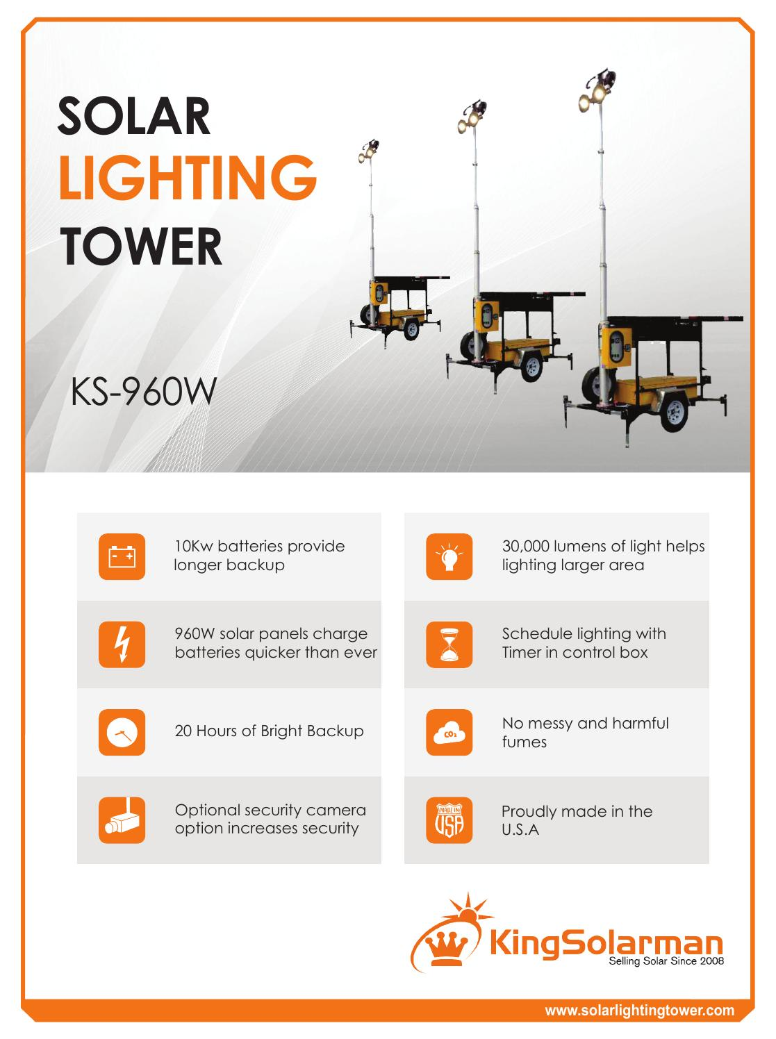 Solar Light Tower Ks 960w By King Solarman Inc Issuu