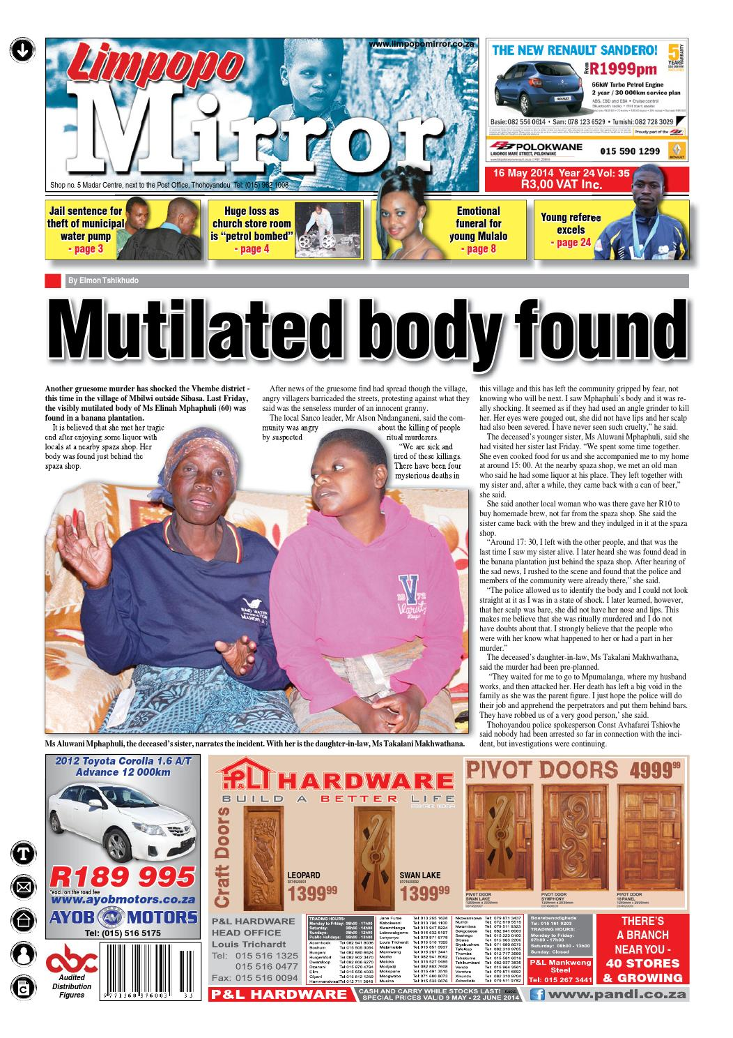 16 May 2014 - Limpopo Mirror by Zoutnet - issuu