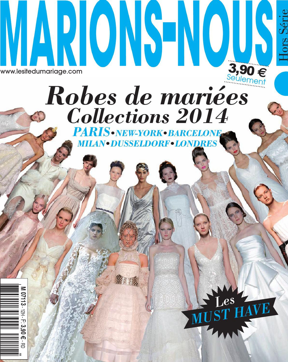 Marions nous collector 2014 by le site du mariage issuu for Hors des robes de mariage rack new york