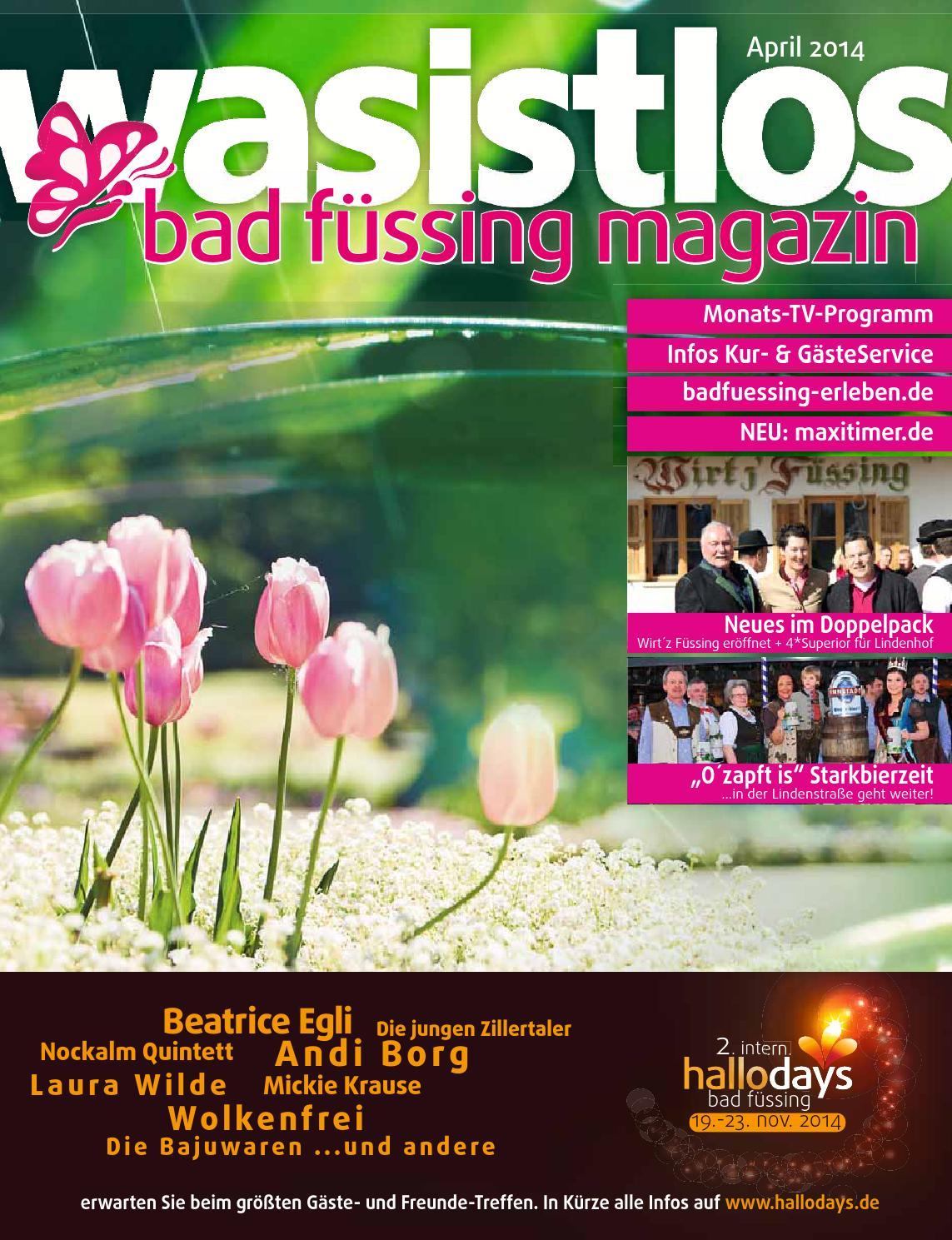 Bad Füssing Magazin - wasistlos - aktuell Bad Füssing erleben April ...