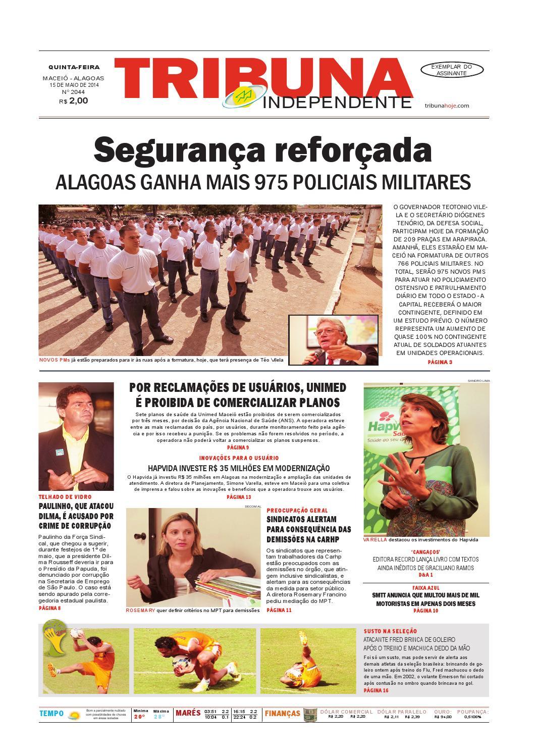 f1b69cd06 Edição número 2044 - 15 de maio de 2014 by Tribuna Hoje - issuu