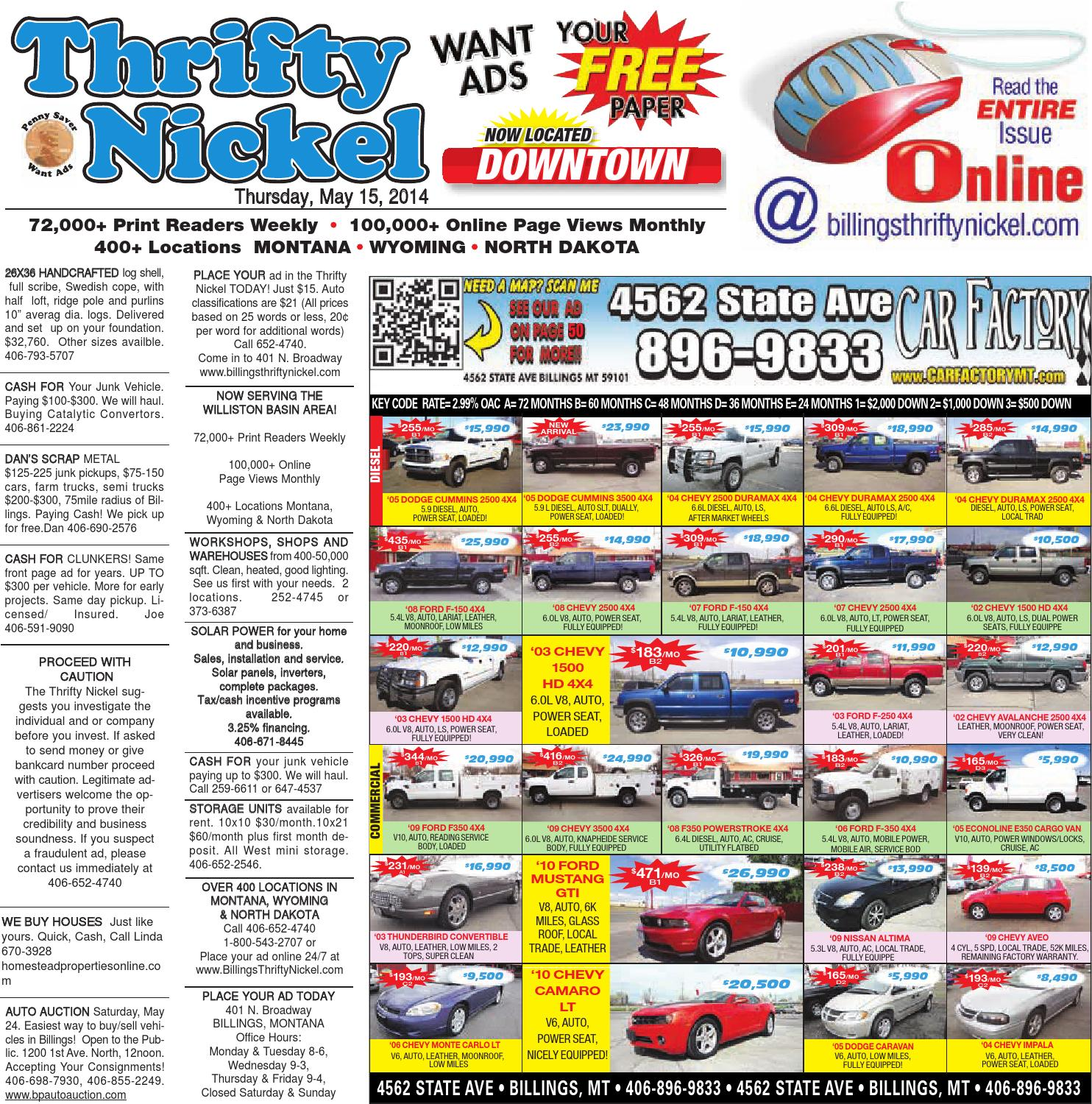 Thrifty Nickel May 15 By Billings Gazette Issuu Generator And Regulator Circuit For 1945 46 Chevrolet Trucks 1 2 Ton