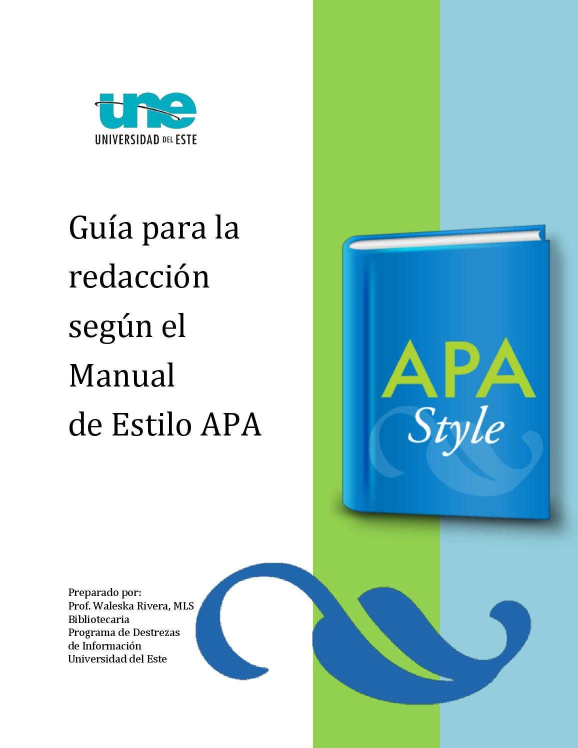 Guía para la redacción segun estilo apa 2014 une by Biblioteca de ...