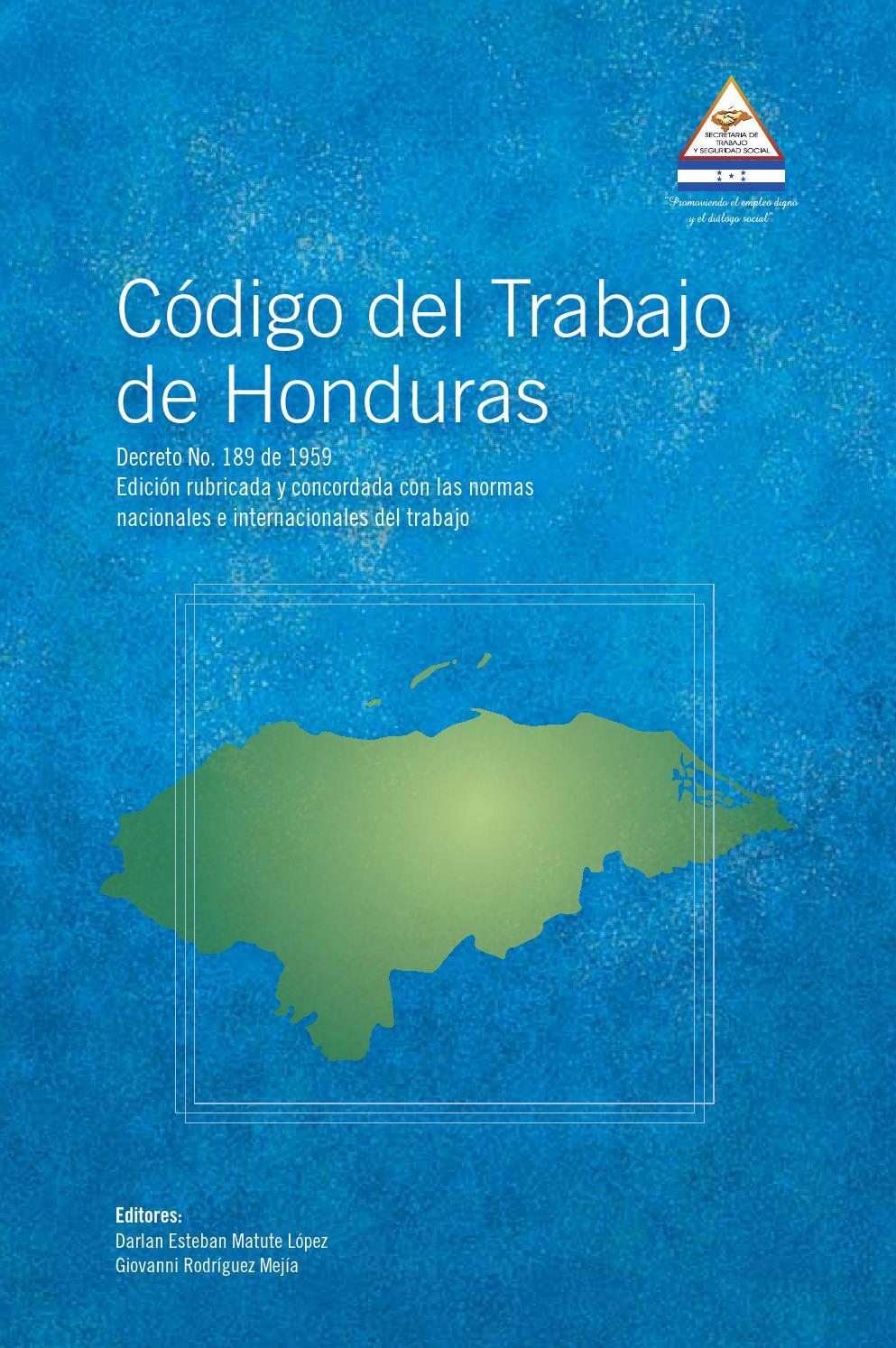 Codigo trabajo honduras by rzapata2014 issuu for Oficina de empleo por codigo postal