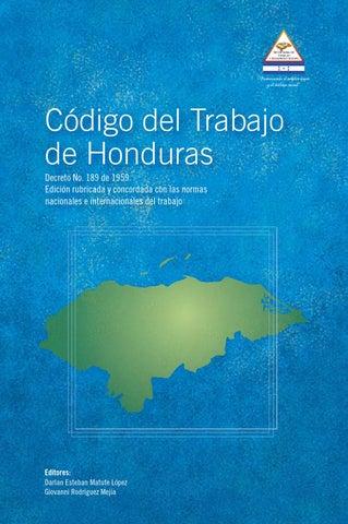 Codigo trabajo honduras by rzapata2014 - issuu