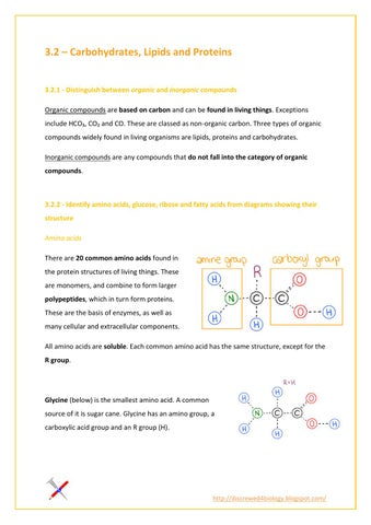 3 2 carbohydrates, lipids and proteins by Ib Screwed - issuu