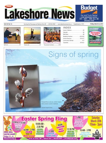 Lakeshore News, March 22, 2013 by Black Press Media Group