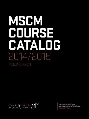 Mcnally Smith Course Catalog 20142015 By Mcnally Smith College Of