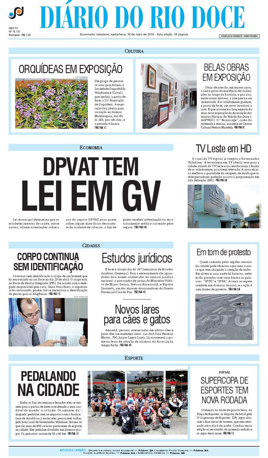 Diário do Rio Doce - Edição de 16 05 2014 by Diário do Rio Doce - issuu 99b1dedeb3ce3