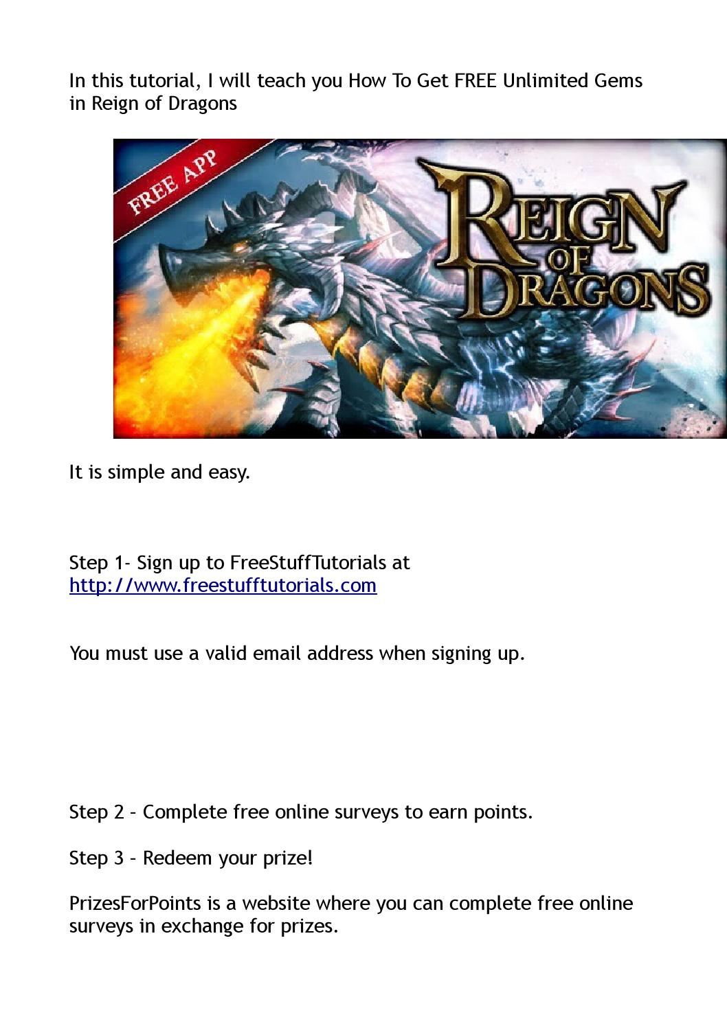 How To Get FREE Unlimited Gems in Reign of Dragons by