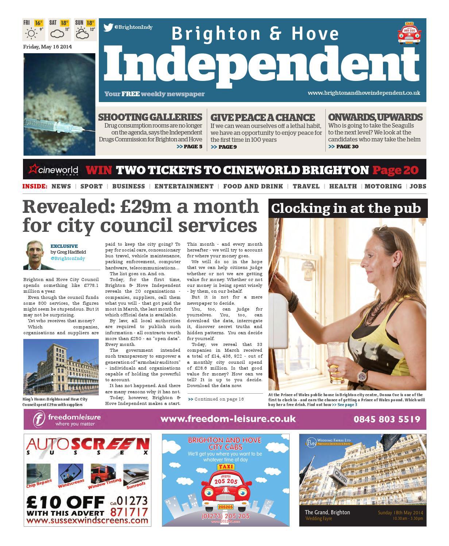 Brighton \u0026 Hove Independent - 16 May 2014 by Brighton \u0026 Hove ...