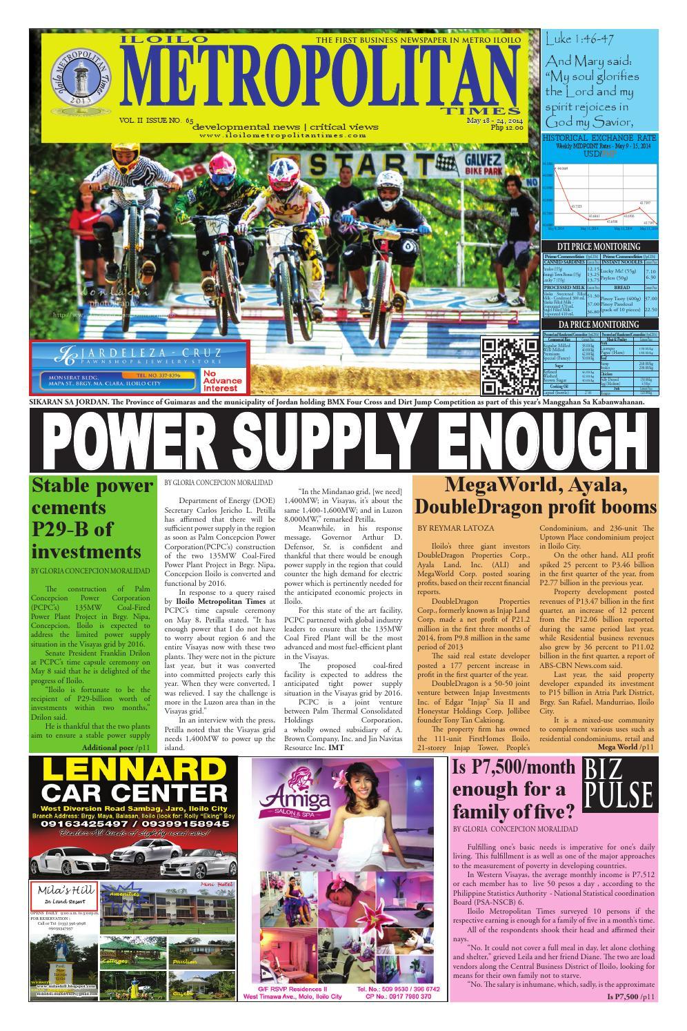 Iloilo Metropolitan Times Volume 2 • Issue 65 by trIsofT - issuu