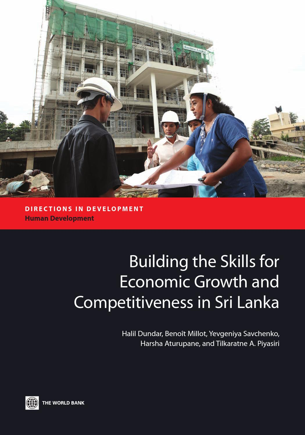 Building The Skills For Economic Growth And Competitiveness In Sri Lanka By World Bank Group Publications Issuu