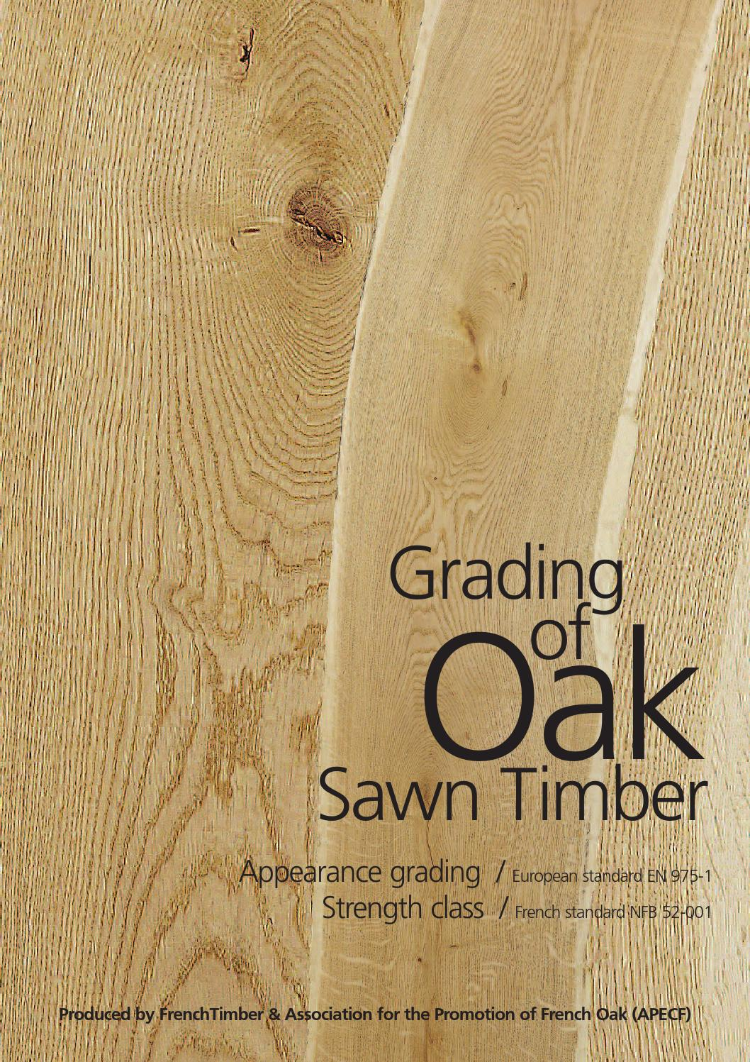 Grading of oak sawn timber frenchtimber by