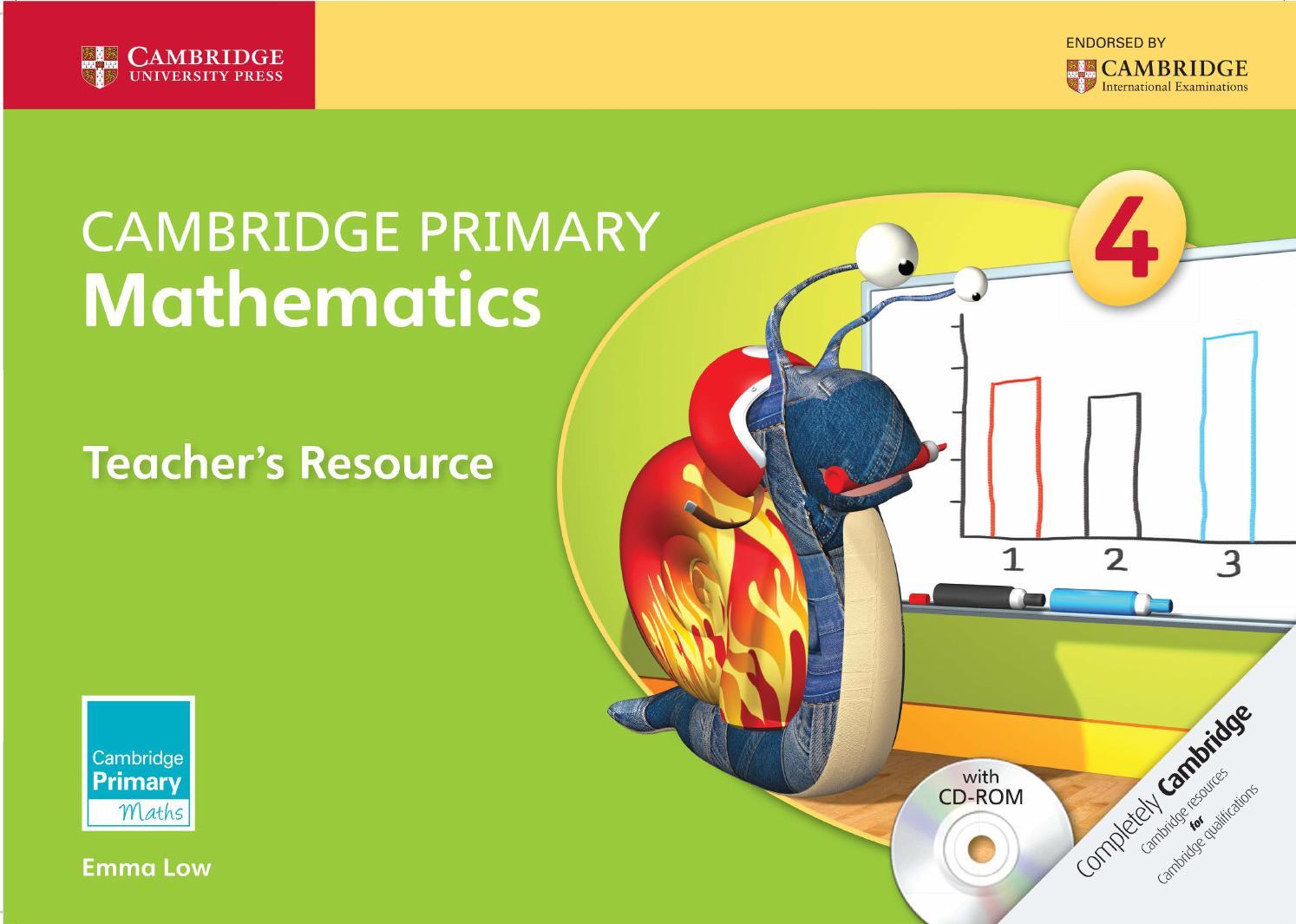 Workbooks primary mathematics workbook : Cambridge Primary Mathematics Teacher's Resource 4 by Cambridge ...