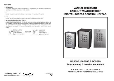 srs access control intercom keypad vandal resistant wiring. Black Bedroom Furniture Sets. Home Design Ideas